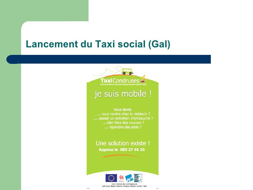 Lancement du Taxi social (Gal)