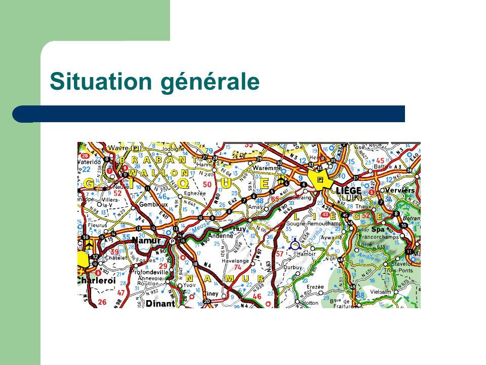 Situation par rapport à la Ville de Liège