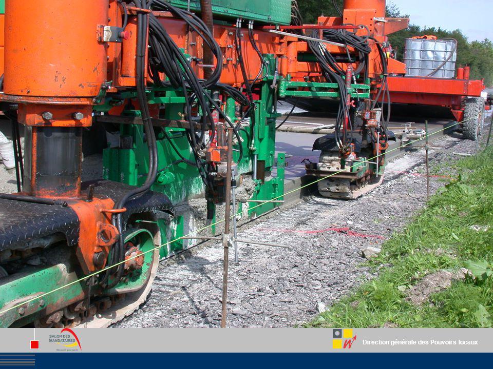Direction générale des Pouvoirs locaux Région wallonne L'avance de subvention Létat cumulatif davancement est introduit dès que le montant des travaux