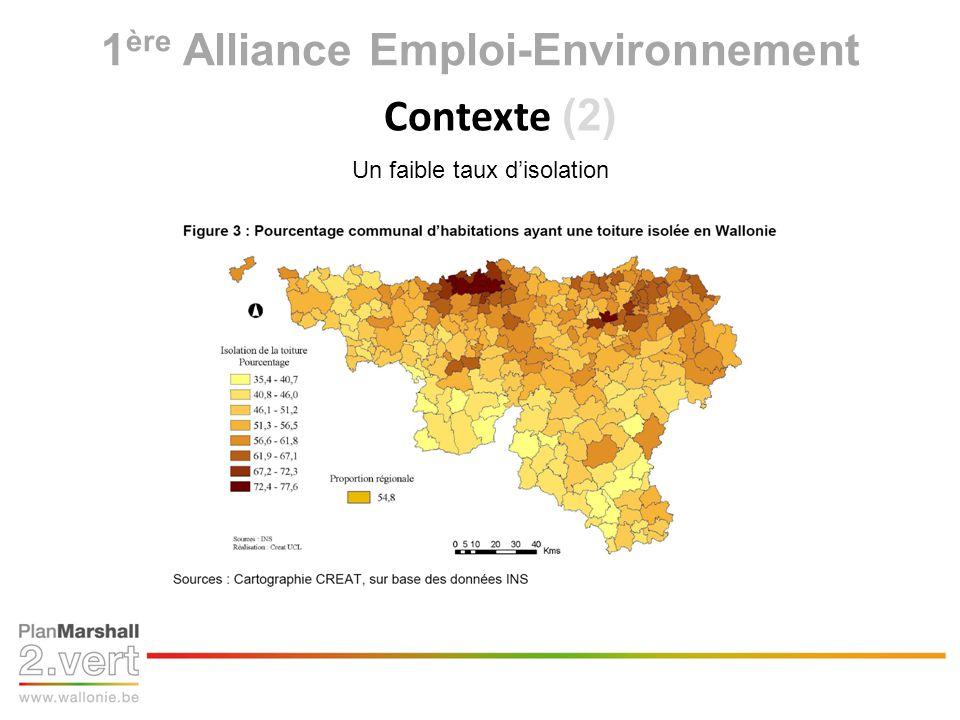 1 ère Alliance Emploi-Environnement Contexte (2) Un faible taux disolation
