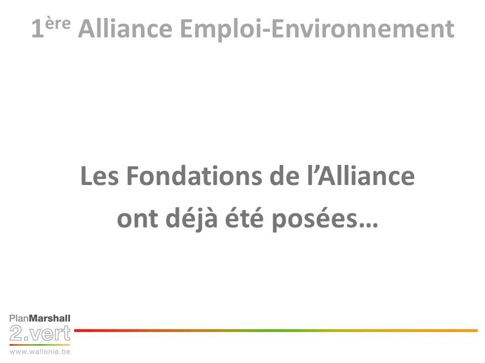 1 ère Alliance Emploi-Environnement Les Fondations de lAlliance ont déjà été posées…
