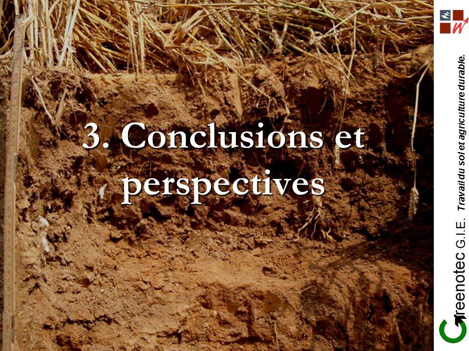 3. Conclusions et perspectives