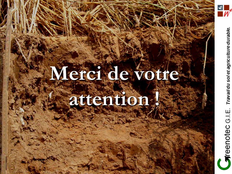 Travail du sol et agriculture durable. Merci de votre attention !