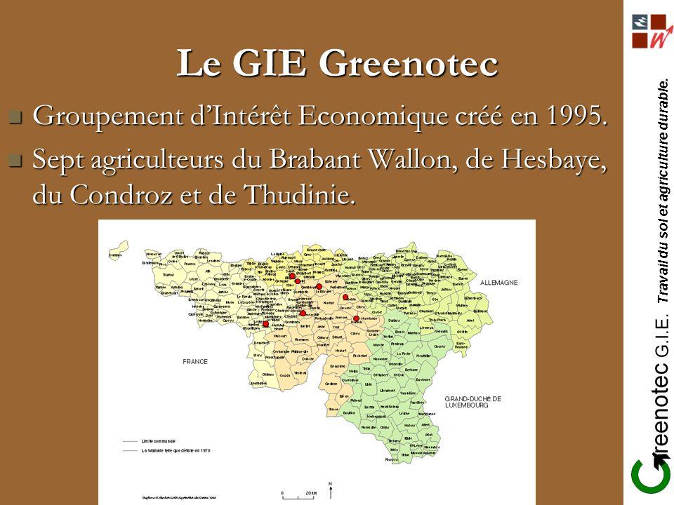 Travail du sol et agriculture durable. Le GIE Greenotec Groupement dIntérêt Economique créé en 1995. Groupement dIntérêt Economique créé en 1995. Sept