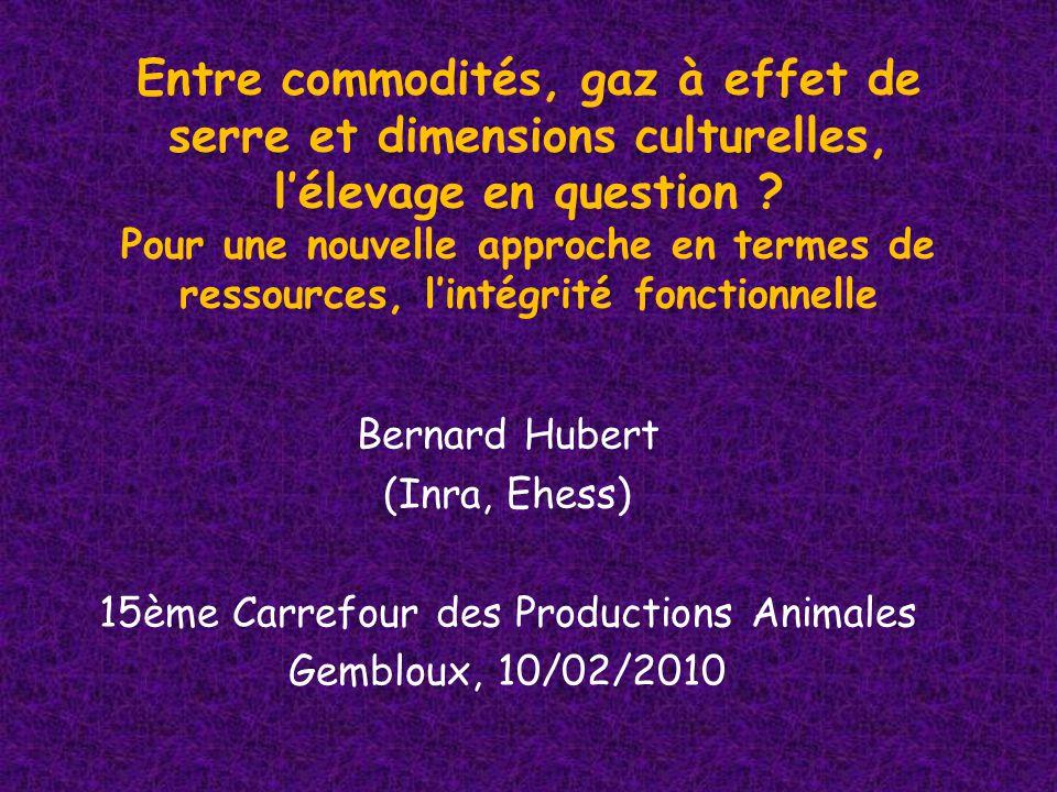 EHESS 16-12-2009 Un bref regard Nord/Sud Pour conclure