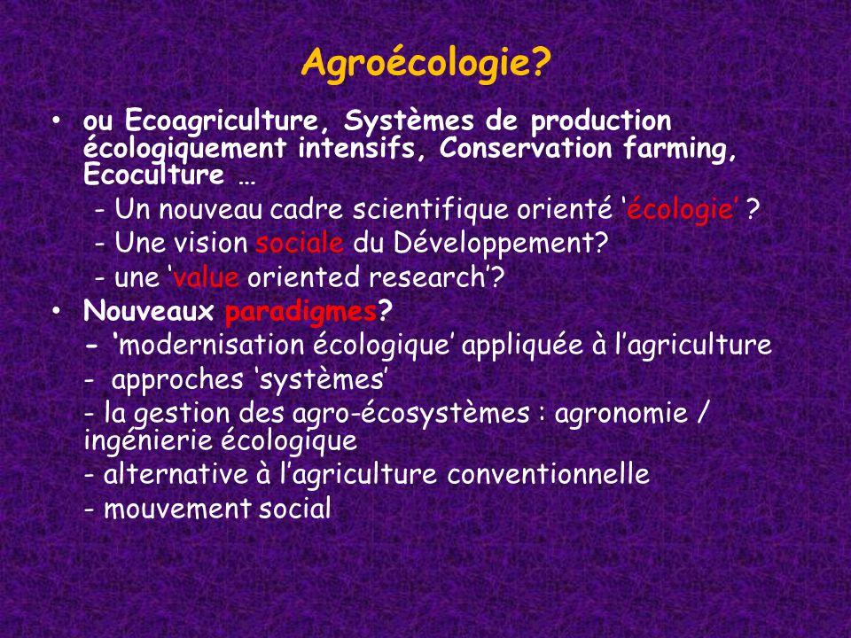 Agroécologie.
