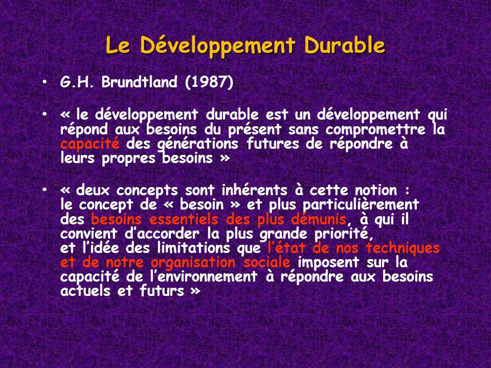 Le Développement Durable G.H.