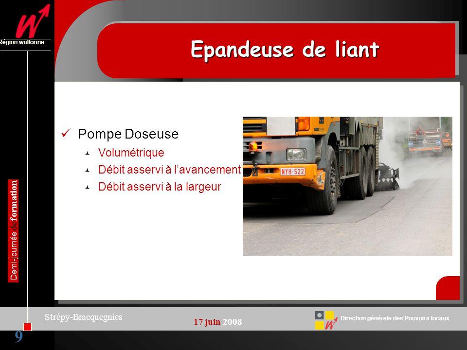10 Direction générale des Pouvoirs locaux Région wallonne 17 juin 2008 Demi-journée de formation Strépy-Bracquegnies GravilloneurGravilloneur 10