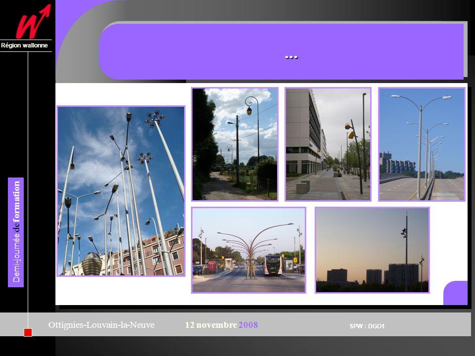 SPW : DGO1 Région wallonne Demi-journée de formation Ottignies-Louvain-la-Neuve12 novembre 2008 ……