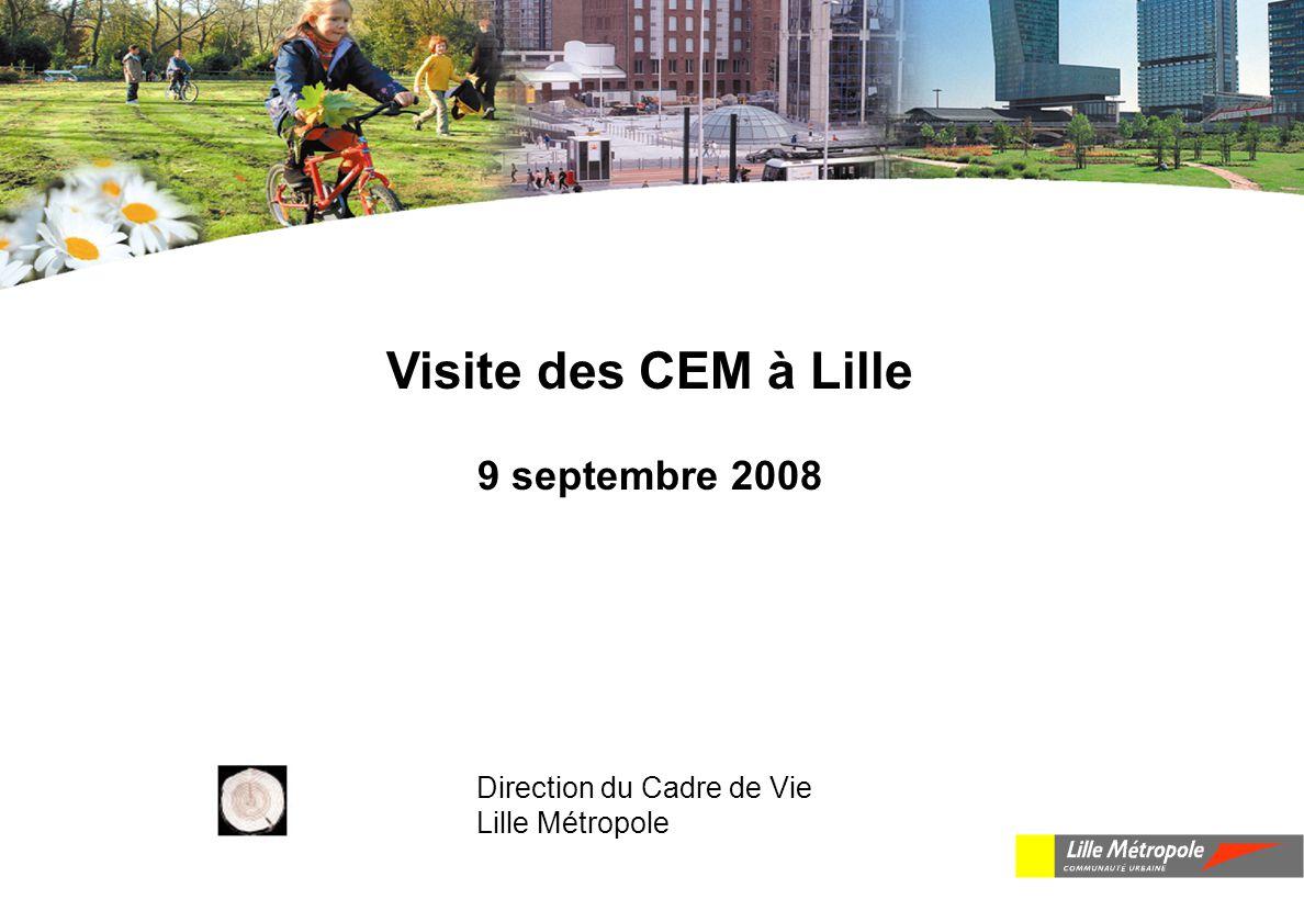 Visite des CEM à Lille 9 septembre 2008 Direction du Cadre de Vie Lille Métropole