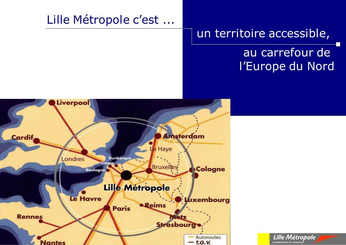 au carrefour de lEurope du Nord Lille Métropole cest... un territoire accessible,