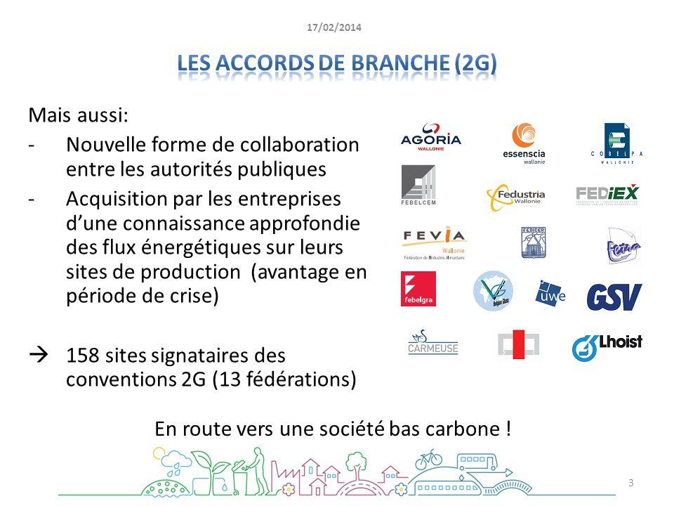 Mais aussi: -Nouvelle forme de collaboration entre les autorités publiques -Acquisition par les entreprises dune connaissance approfondie des flux éne