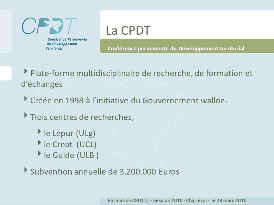 Plate-forme multidisciplinaire de recherche, de formation et déchanges Créée en 1998 à linitiative du Gouvernement wallon.