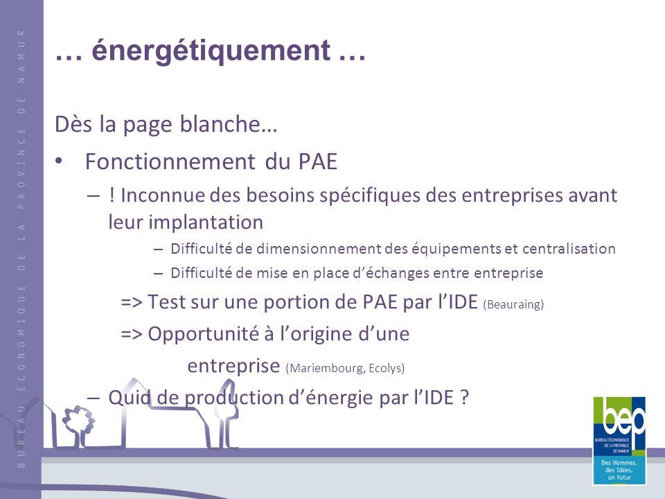 … énergétiquement … Dès la page blanche… Fonctionnement du PAE – .