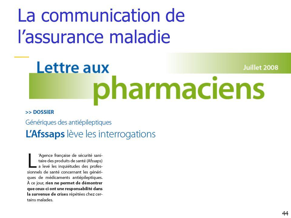 La communication de lassurance maladie 44