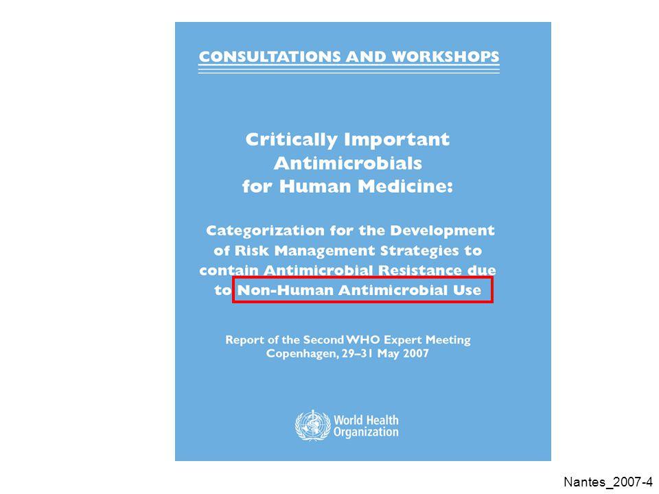 Nantes_2007-85 Doxycycline : sélection dune dose pour une antibiothérapie empirique Actinobacillus pleuropneumoniae 0% 20% 40% 60% 80% 100% 0244872 AUC/CMI ratio (h) % of pigs above a given AUC/MIC ratio 5mg/kg 10 mg/kg 20 mg/kg bacteriostatic Doses