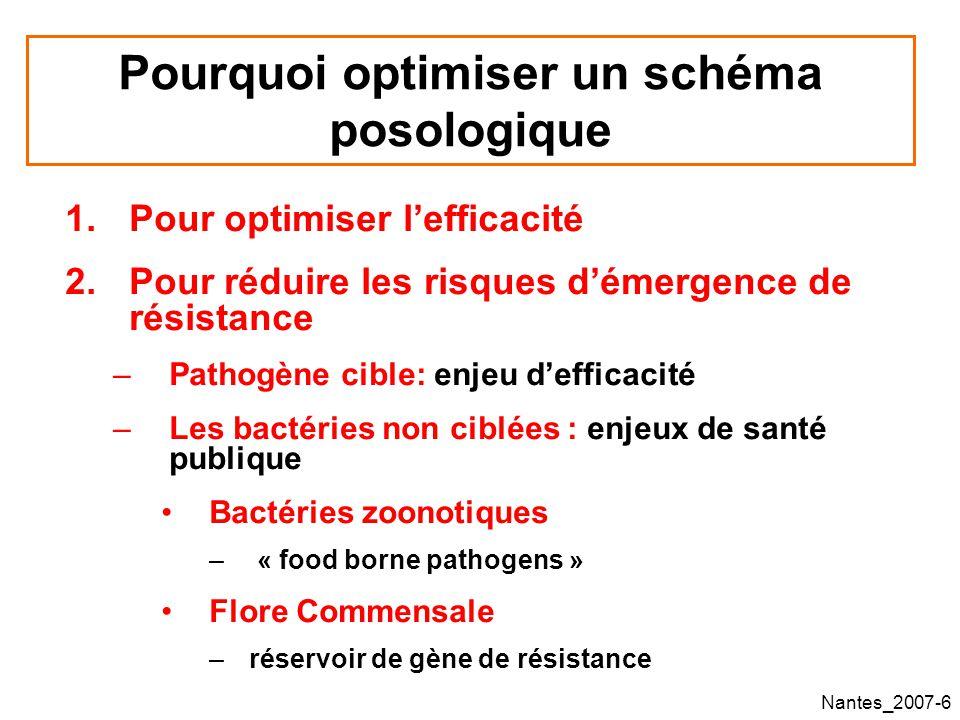 Nantes_2007-57 Influence du schéma posologiques sur lémergence de résistance : Donnée epérimentales pour les bêta-lactam