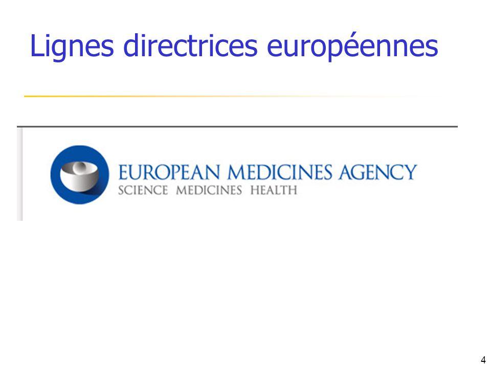 Lignes directrices européennes 4