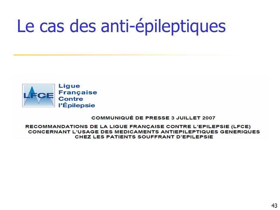 Le cas des anti-épileptiques 43