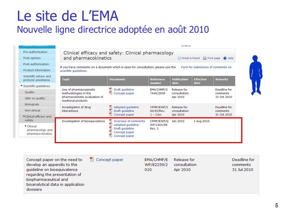 Le site de LEMA Nouvelle ligne directrice adoptée en août 2010 5