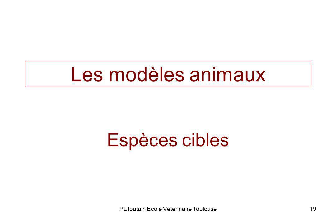 PL toutain Ecole Vétérinaire Toulouse19 Les modèles animaux Espèces cibles