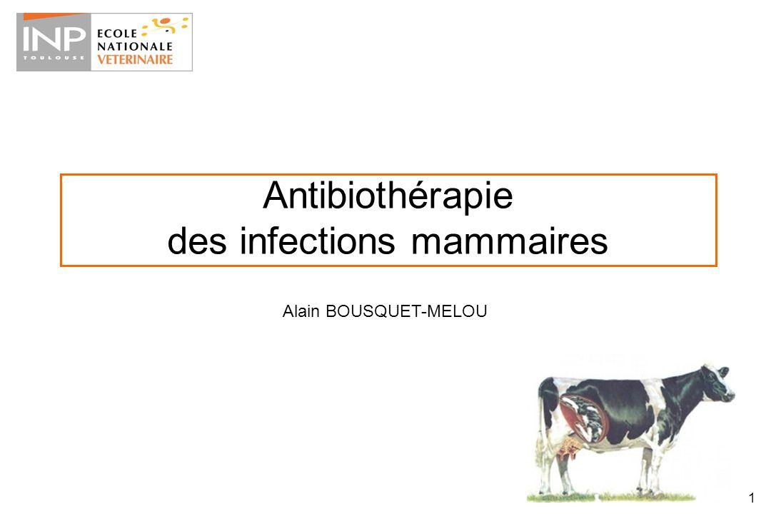 1 Antibiothérapie des infections mammaires Alain BOUSQUET-MELOU