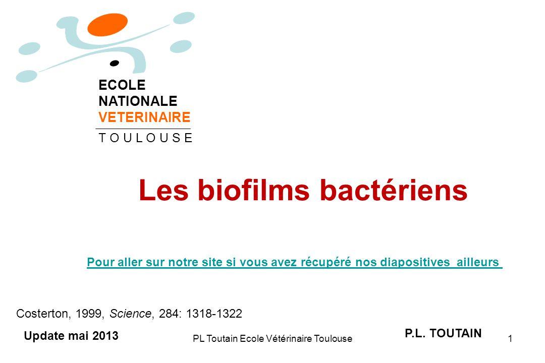 PL Toutain Ecole Vétérinaire Toulouse1 Les biofilms bactériens P.L.