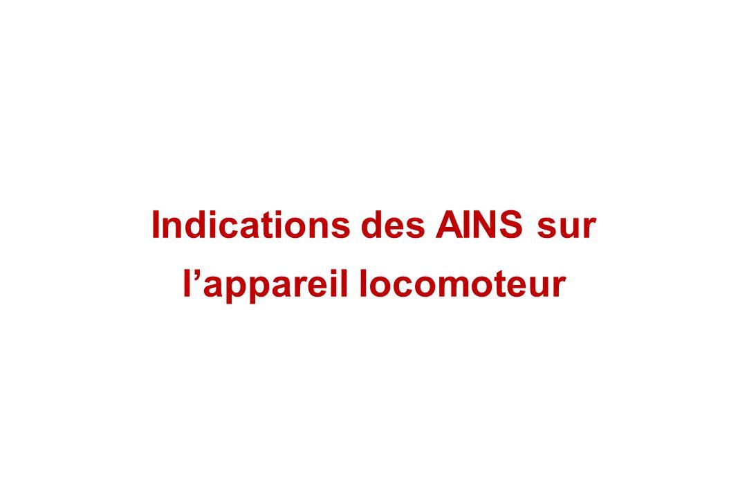 Indications des AINS sur lappareil locomoteur