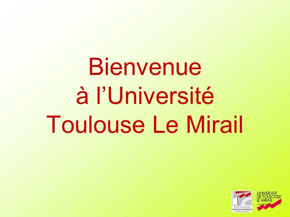 Bienvenue à lUniversité Toulouse Le Mirail