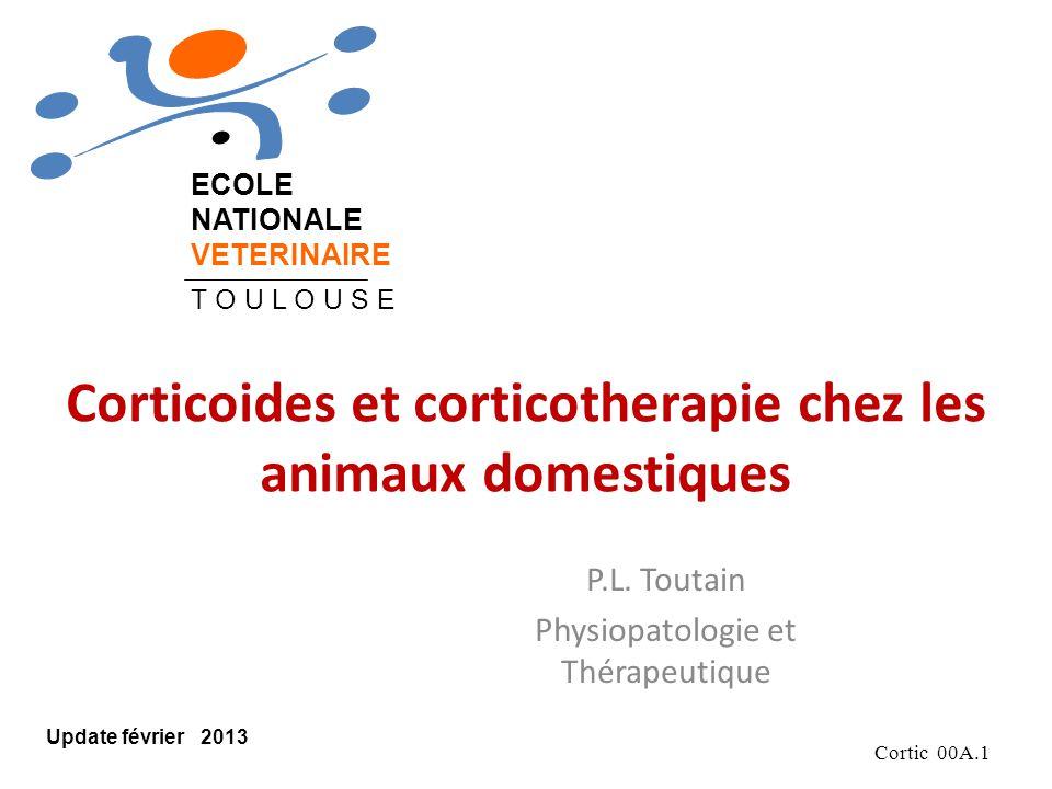 Cortic 00A.1 Corticoides et corticotherapie chez les animaux domestiques P.L.