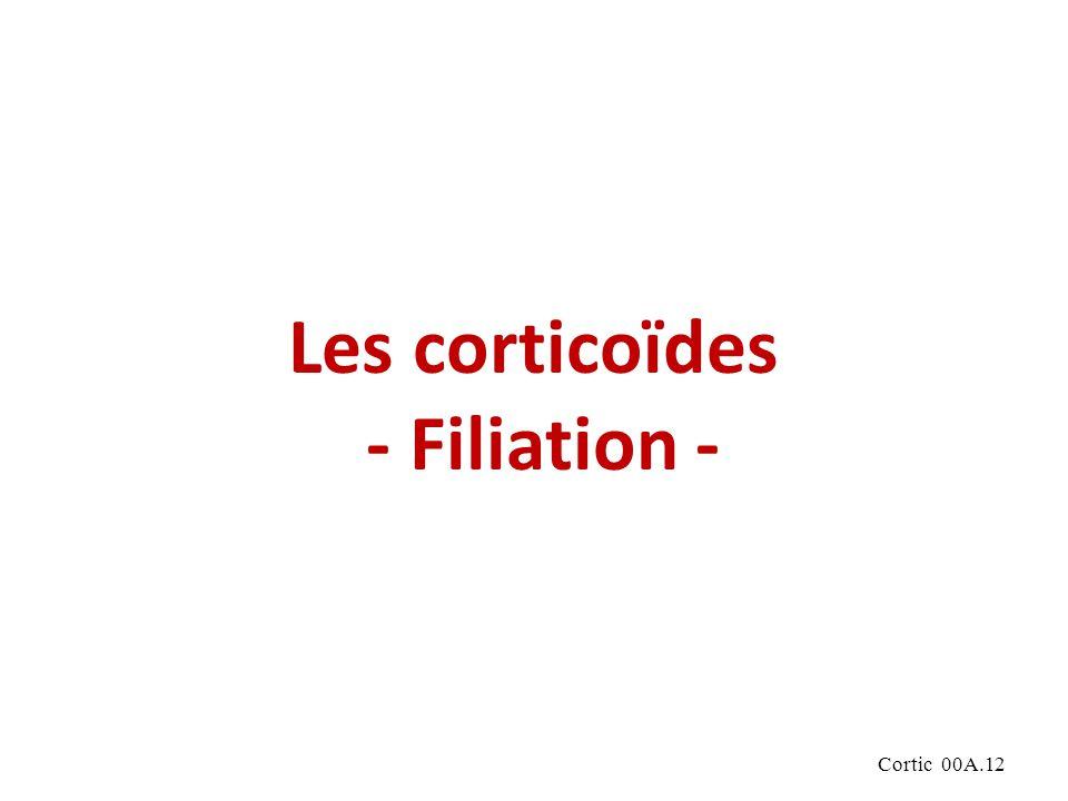 Cortic 00A.12 Les corticoïdes - Filiation -