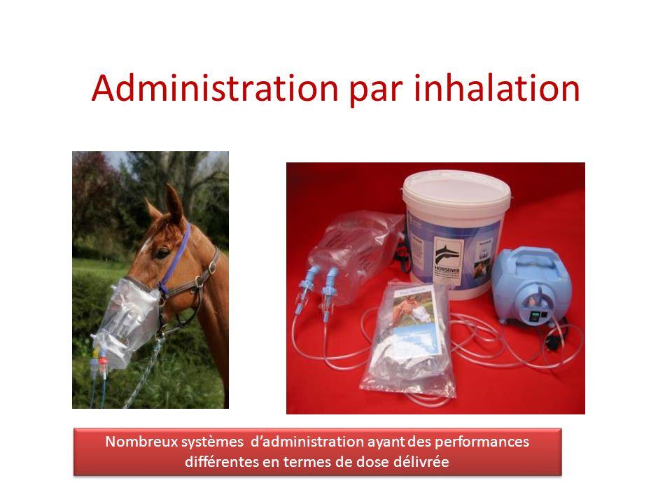 Administration par inhalation Nombreux systèmes dadministration ayant des performances différentes en termes de dose délivrée