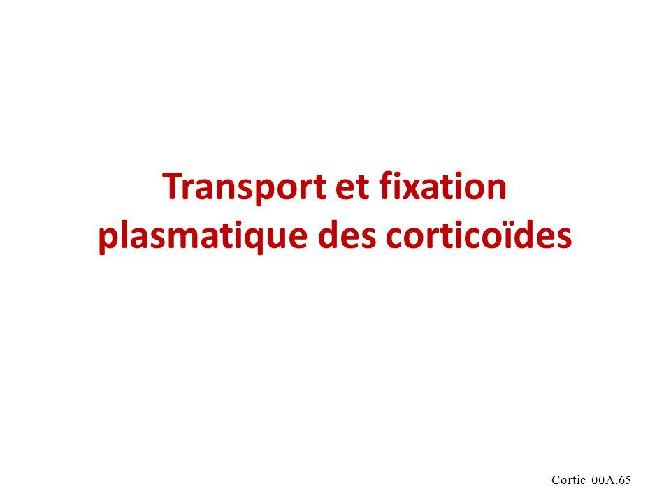 Cortic 00A.65 Transport et fixation plasmatique des corticoïdes