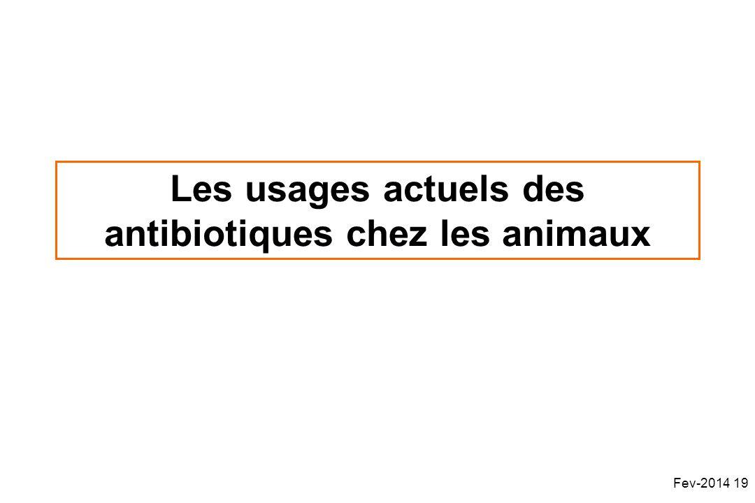 Les usages actuels des antibiotiques chez les animaux Fev-2014 19