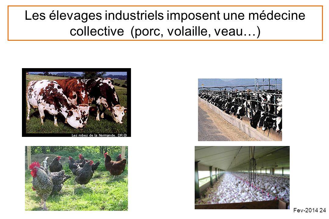 Les élevages industriels imposent une médecine collective (porc, volaille, veau…) Fev-2014 24