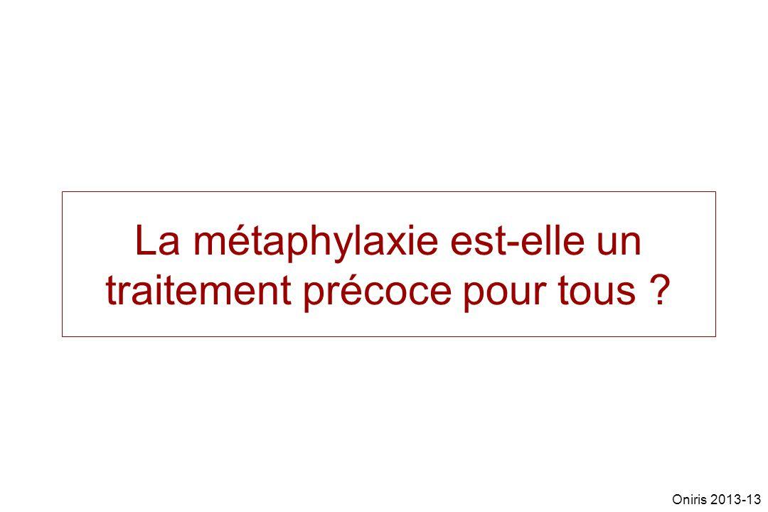 La métaphylaxie est-elle un traitement précoce pour tous ? Oniris 2013-13