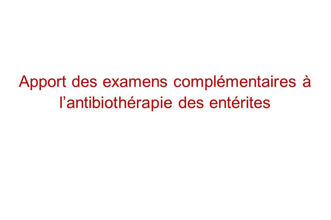 Apport des examens complémentaires à lantibiothérapie des entérites