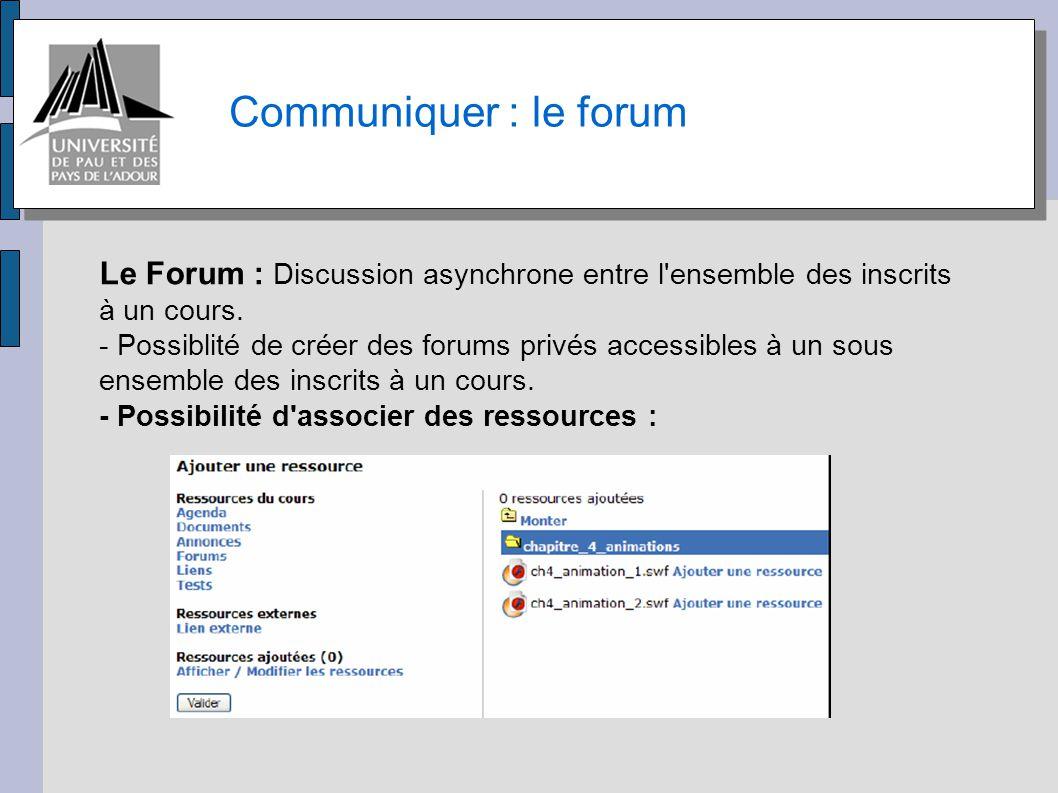 Communiquer : le Chat, la conférence Le Chat : Discussion textuelle synchrone.