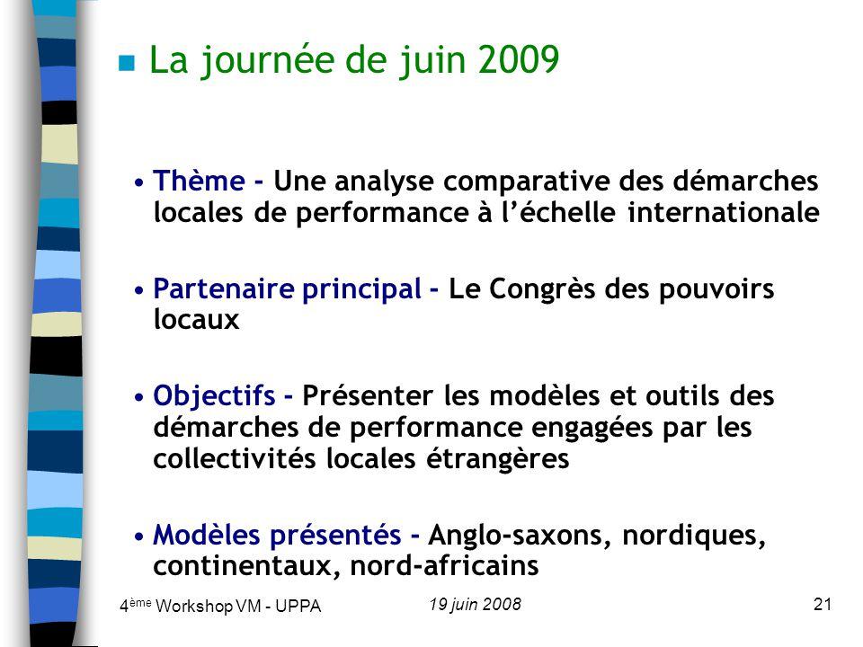 4 ème Workshop VM - UPPA 19 juin 200822