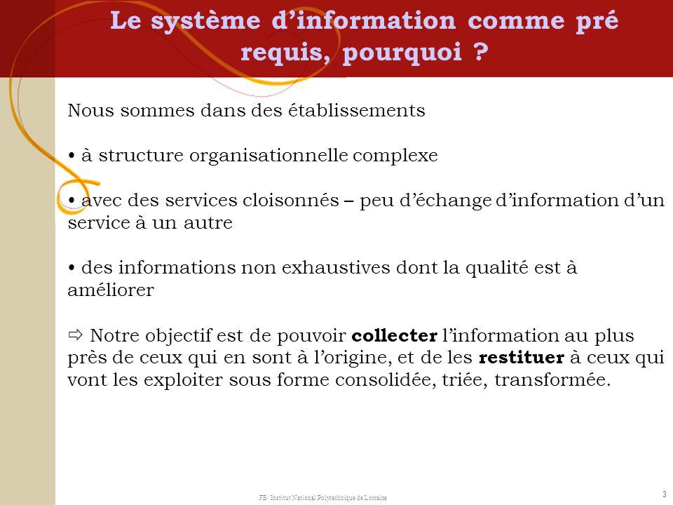 3 Nous sommes dans des établissements à structure organisationnelle complexe avec des services cloisonnés – peu déchange dinformation dun service à un