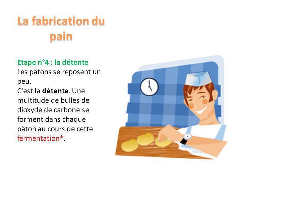 Etape n°3 : la division Le boulanger partage la grosse boule de pâte en petites boules. C'est la division. Chaque petite boule s'appelle un pâton. Tou