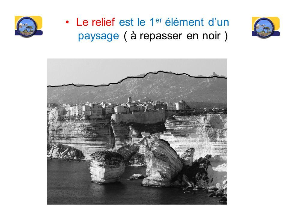 Le relief est le 1 er élément dun paysage ( à repasser en noir )