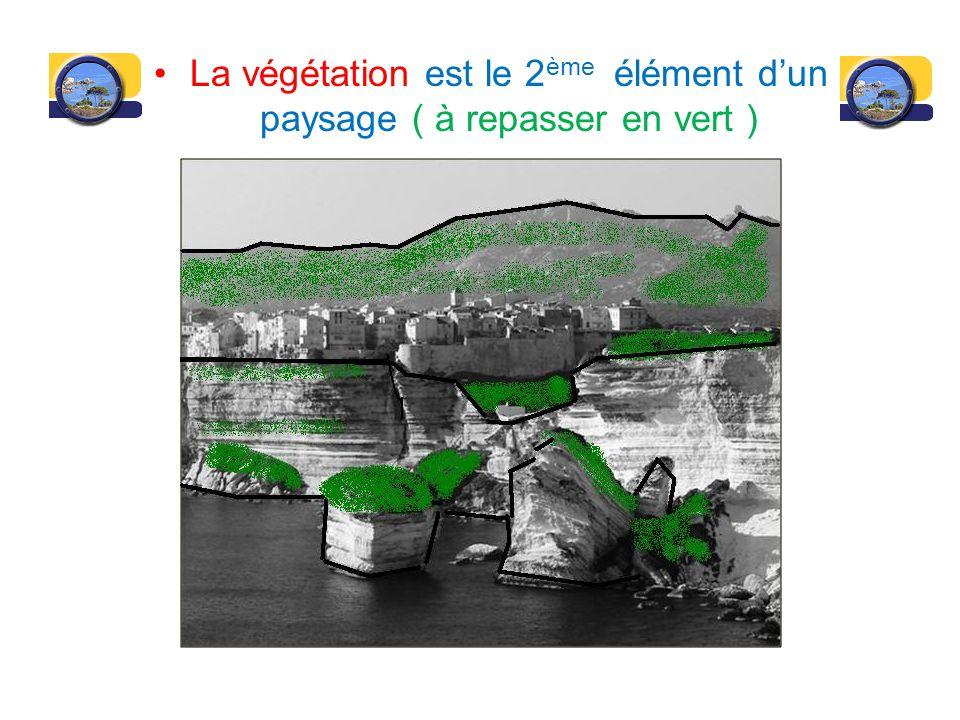 Leau est le 3 ème élément dun paysage ( à repasser en bleu )