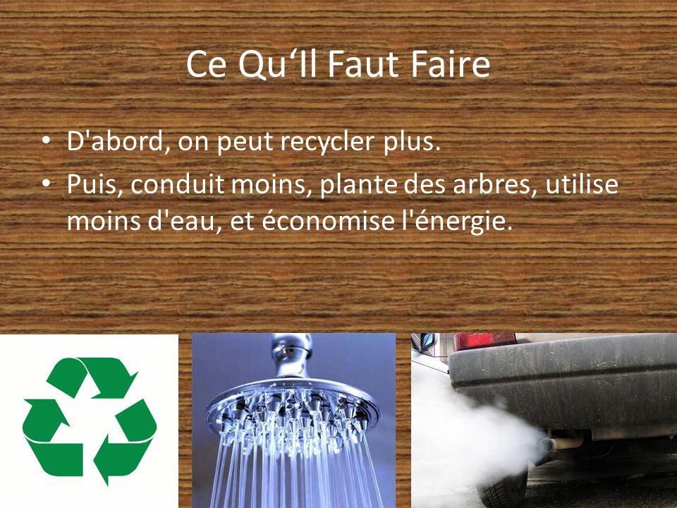 Ce QuIl Faut Faire D abord, on peut recycler plus.