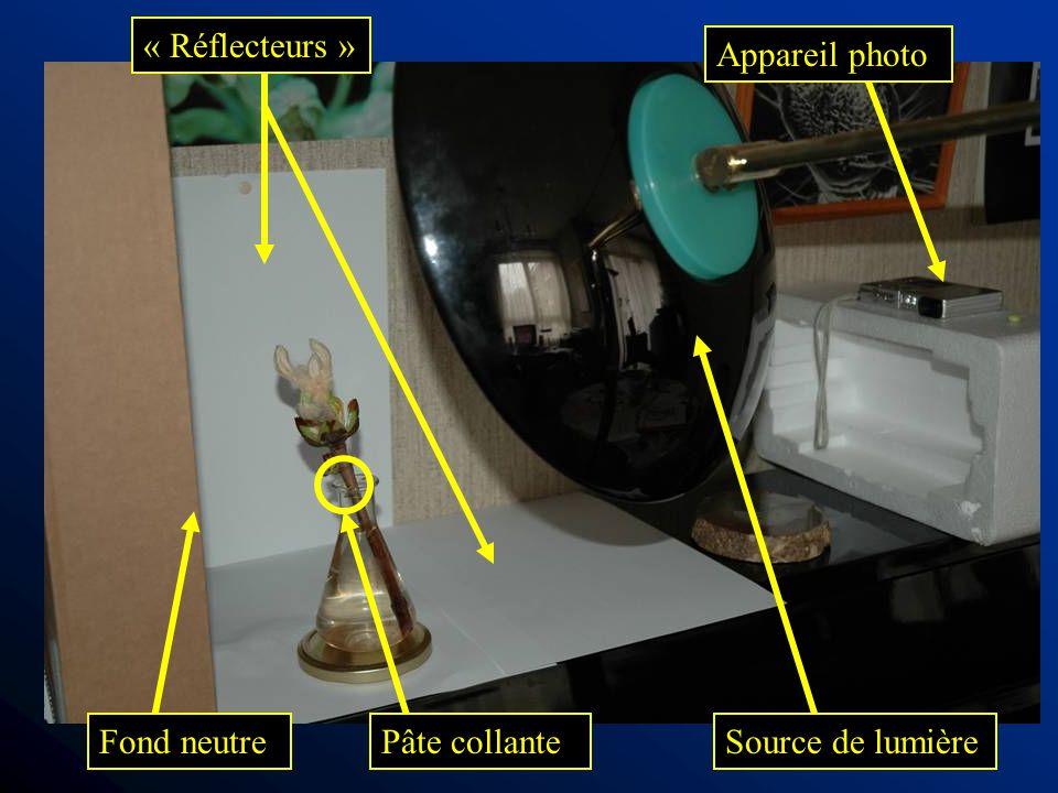 Appareil photo Source de lumière « Réflecteurs » Fond neutrePâte collante