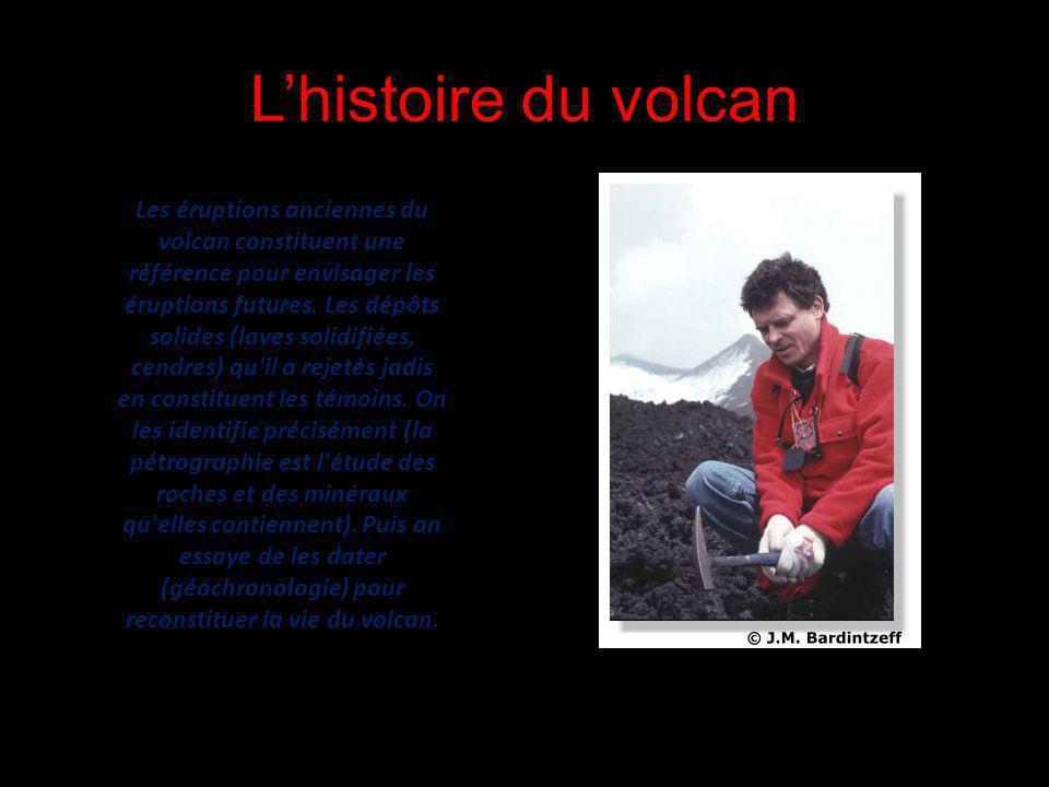 Lhistoire du volcan Les éruptions anciennes du volcan constituent une référence pour envisager les éruptions futures. Les dépôts solides (laves solidi