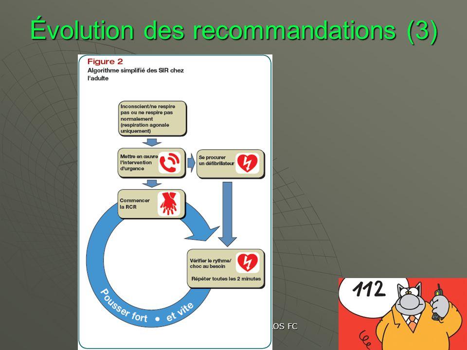 Les gestes qui sauvent CROS FC Nov 2012 Évolution des recommandations (3)