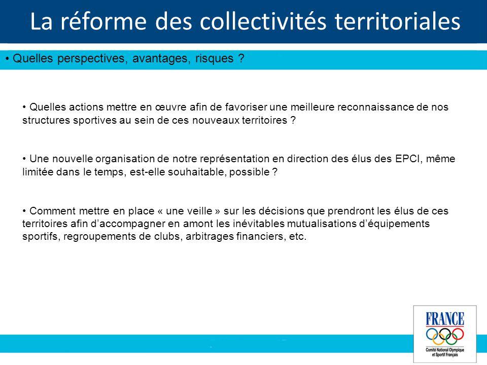 La réforme des collectivités territoriales Quelles perspectives, avantages, risques .