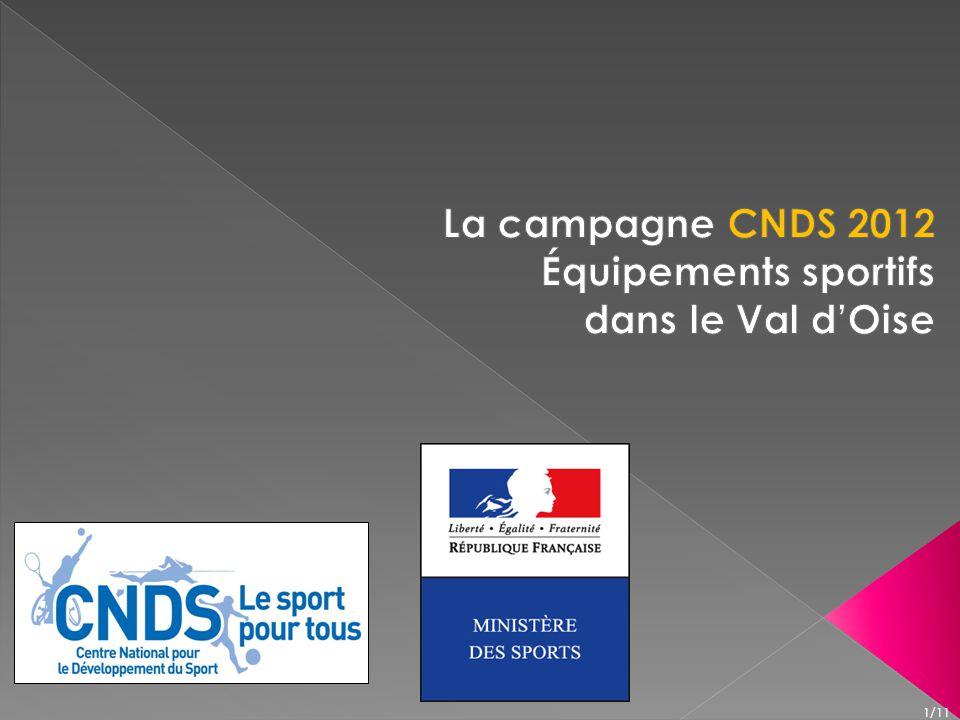 Code du sport et règlement général du CNDS modifié, Lettre dorientations générales 2012 du Ministre des sports, Monsieur David DOUILLET en date du 14 novembre 2011, 2/11