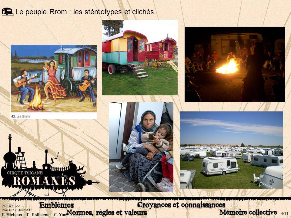 DREA OIPP INALCO 2010/2011 F. Michaux – F. Polistena – C. Yan 4/11 Le peuple Rrom : les stéréotypes et clichés